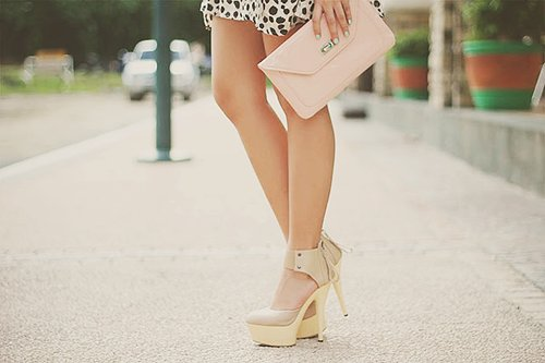 bag, cute heels girl sweet, fashion, heels, high