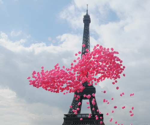 balloons, paris, photography, pink, summer