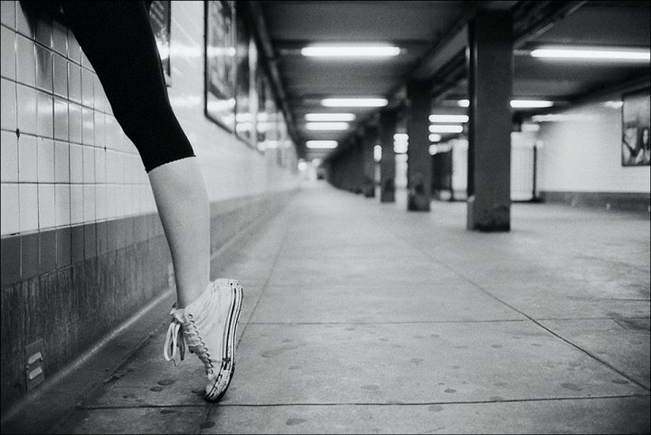 b&w, ballet, converse, dancer, girl