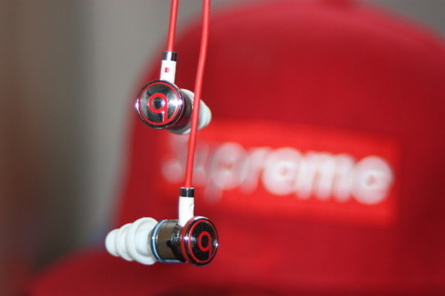 beats, dope, red, snapback, supreme