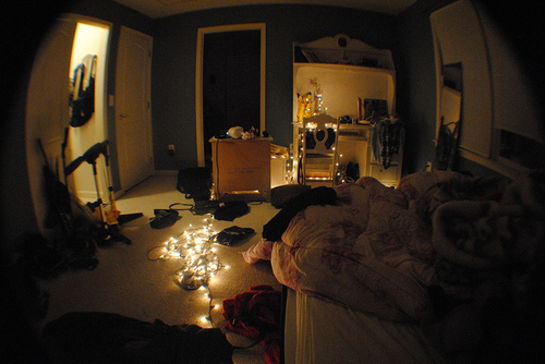 beautiful, bed, bed room, bedroom, color, colorful, colors, comfy, cosy, deco, decoration, fairy light, fairy lights, fairylight, fairylights, fisheye, interior, interior design, light, lights, photography, pretty, room, rooms, vintage