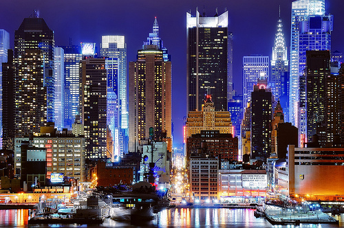 beautiful, big city, buildings, city, lights