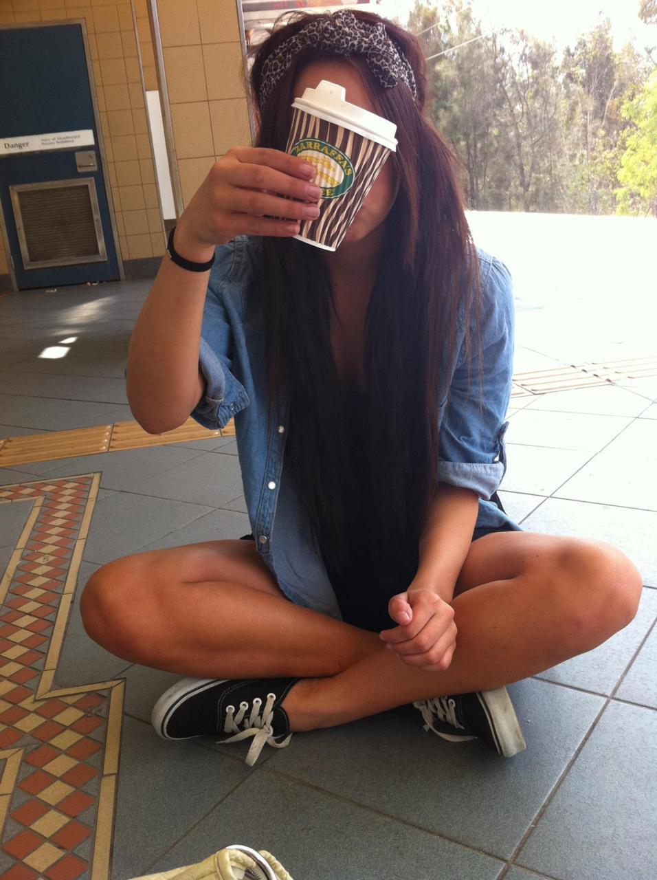 beautiful, coffee, drink, girl, hair