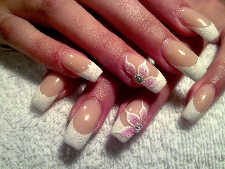 beautiful, cute, flower, nail art, nails