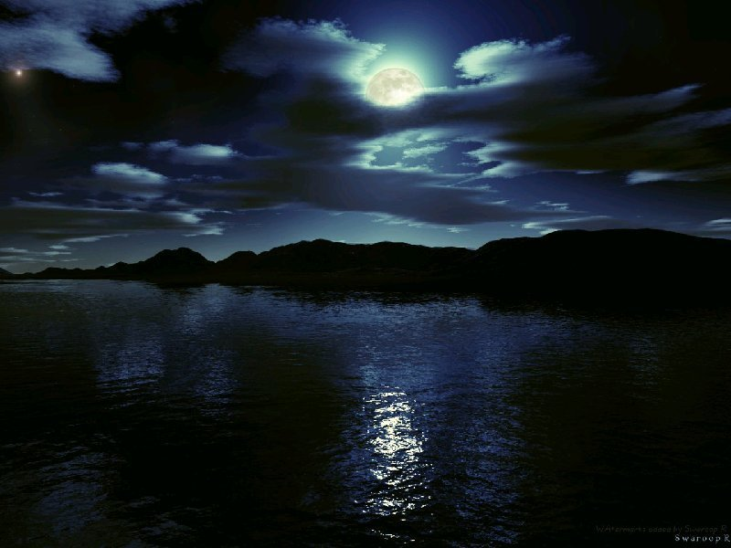 beautiful, full moon, moon, moonlight, night
