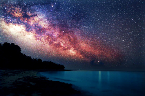 beautiful, galaxy, gorgeous, lake, night