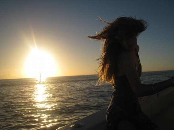 beautiful, girl, hair, pretty, sunset