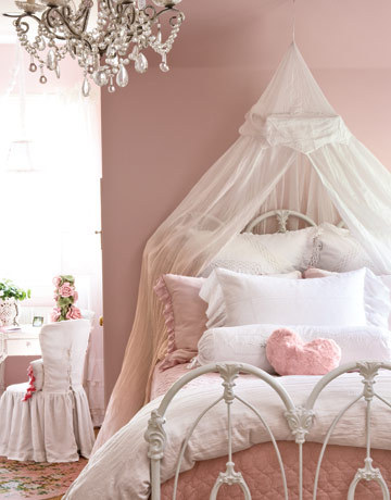 bedroom, pink, pretty, vintage, vintage bedroom