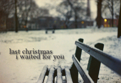 bench, christmas, lost, photography, snow