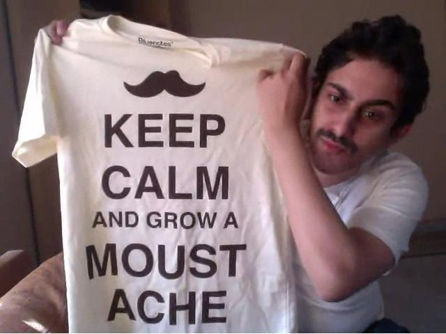 bilal khan, keep calm, moustache