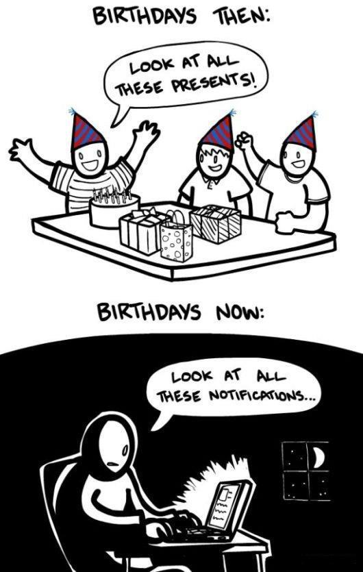birthday, black, cartoon, comic, facebook