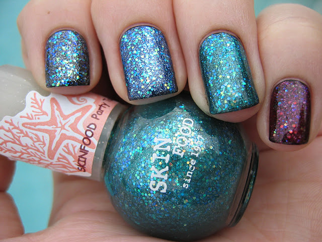 blue, colors, glitter, nail, nails