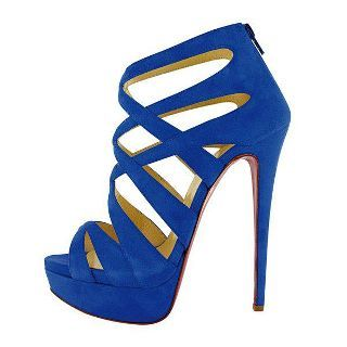 blue, heels, high heels, shoe, shoes