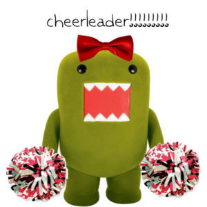 boy, cheerleader, couple, cute, domo, funny, girl