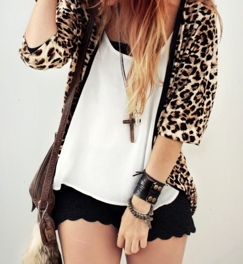 bracelets, cheetah, cross, shorts, swag, tank top