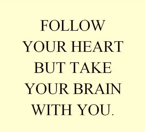 brain, heart, love, text