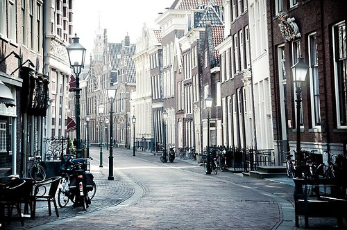 buildings, city, lantern, netherlands, photography, street