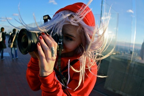 camera, charlavail, girl