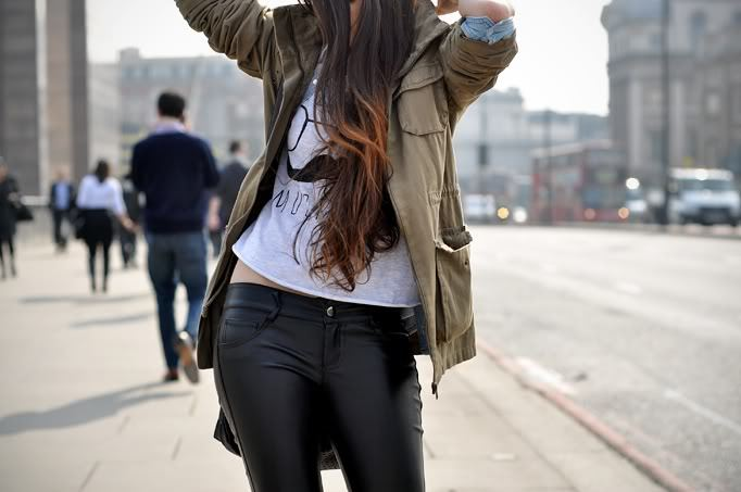 classy, coat, girl, hair, leather jean