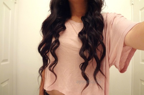 curly, hair, long, wavy