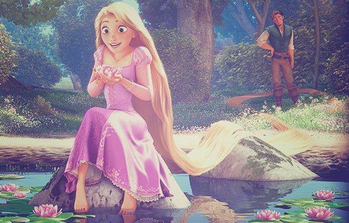 cute, disney, girl, rapunzel, tangled