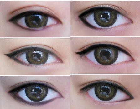different eye liners, diy, eye liner, eye shadow, makeup, tutorial