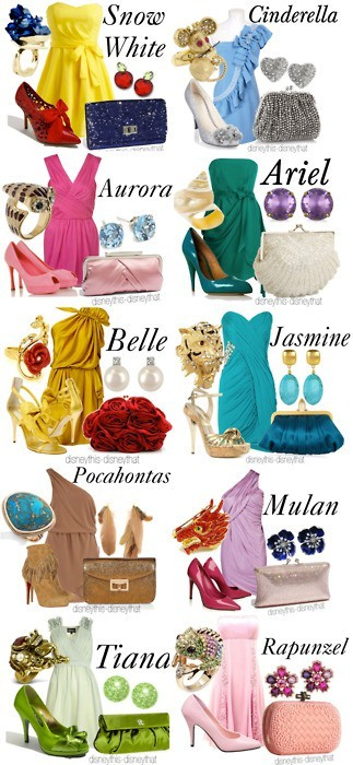 disney, disney princesses, dresses, fashion, fashionesta