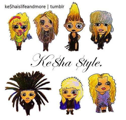 drawing, ke$ha, my drawing, style