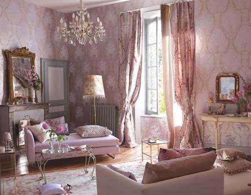 fairy tale, front room, interior, pink, rococo