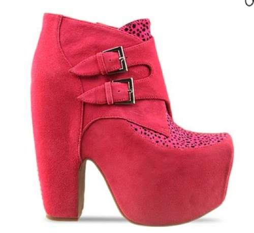 fashion, heels, jeffery campbell, pink, print, shoes