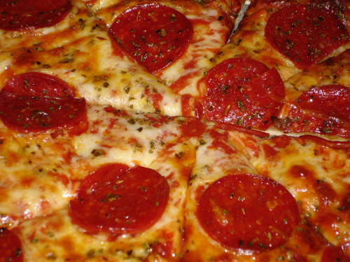 food, pepperoni, pizza