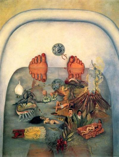 frida kahlo, o que la aqua me dio, what the water gave me