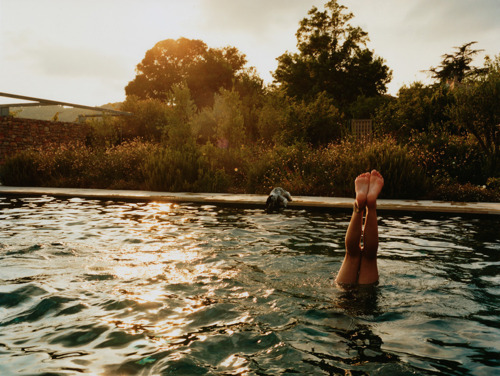 girl, handstand, legs, light, pool