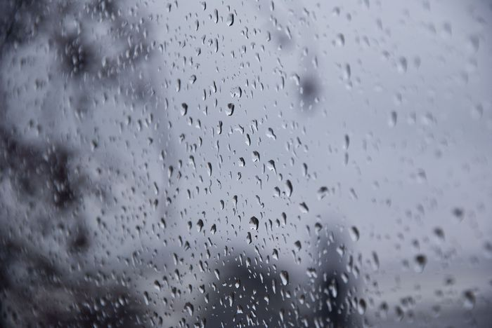 grey, rain, raindrops, window