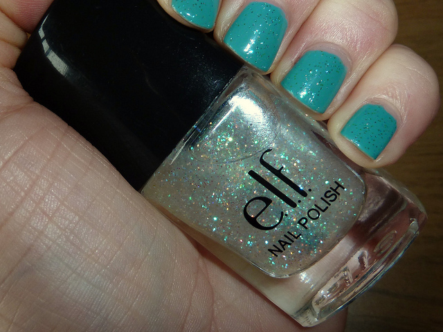 models own, nail polish, nails, top turquoise, twinkle