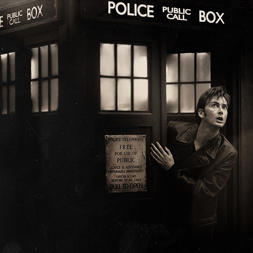 10th doctor, david tennant, doctor who, tardis, tenth doctor
