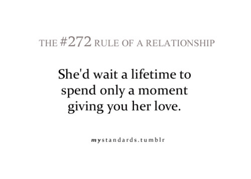 #272, give, giving, lifetime, love, moment, only, rule, she, spend, wait