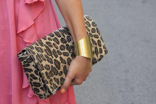 adorable, animal print, beautiful, bracelet, classy, cute, cutie, dress, fabulous, fashion, girl, golden, lady, leopard, lovely, nails, nice, pink, purce, style, wonderful
