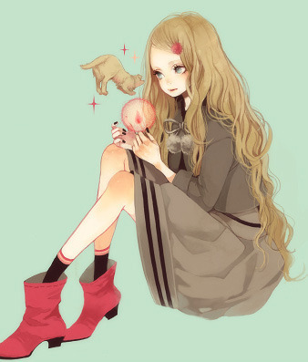 adorable, anime, art, creative, cute, draw, drawing, dress, fashion, hair, illustration, lineart, pretty, shoes