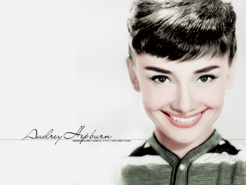 adorable, art, audrey, audrey hepburn, creative, cute, draw, drawing, hair, illustration, lineart, pretty, smile, vintage