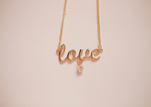 adorable, cute, diamond, love, necklace
