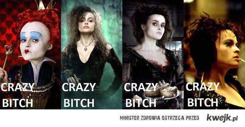 alice in wonderland, crazy bitch, harry potter, helena bonham carter, sweeney todd