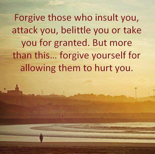 allow, forgive, forgiveness, hurt, insult