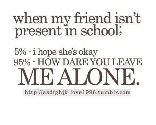alone, friend, friends, school, school time
