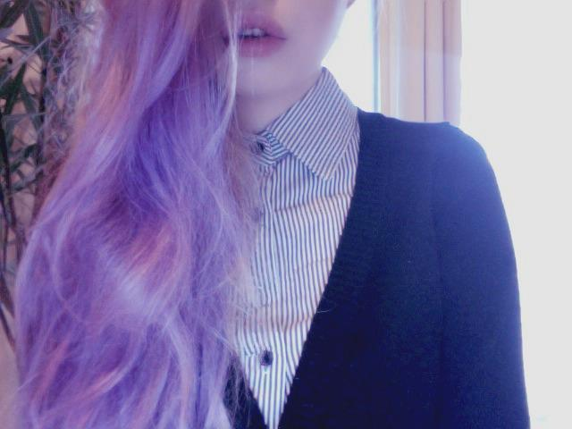 alternative, alternative girl, beautiful, button up, colorful hair
