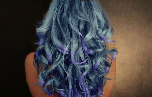 alternative, awesome, blue, blue hair, cool, curls, curly, curly hair, cute, dip dye, dyed, dyed hair, girl, hair, hipster, perfect hair, photoshop, pretty, woman