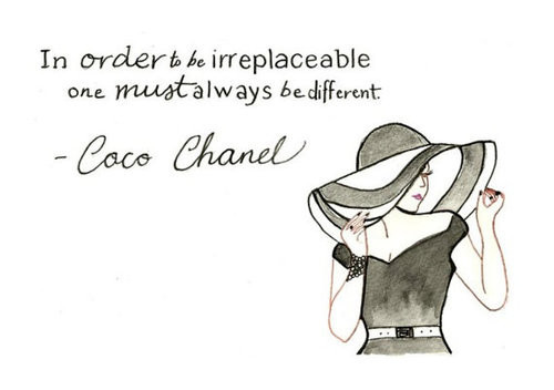 always, be different, chanel, coco, coco chanel