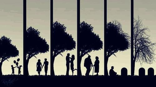 always, children, couple, death, forever, growing up, in love, life, love, marriage, old, sad, tree, true love, young