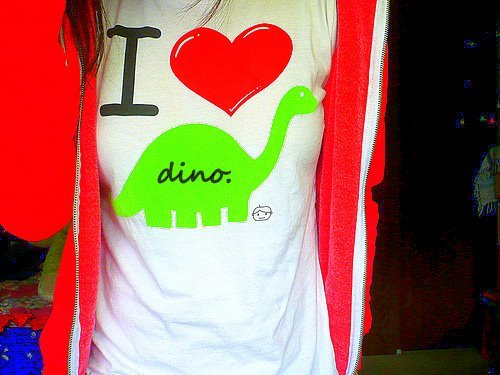 &amp;lt;3, dino, fashion, love, rawr