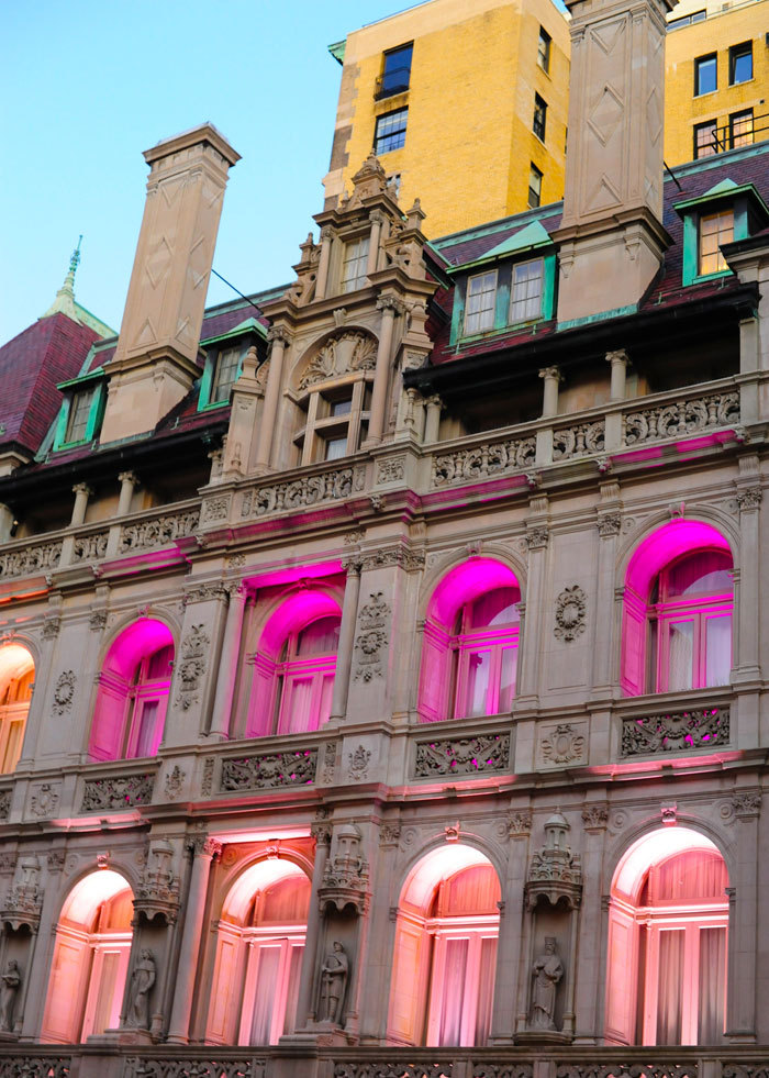 architecture, breast cancer awareness, new york, pink, ralph lauren